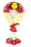 Corona del fiore per la madre su fondo bianco immagini stock libere da diritti