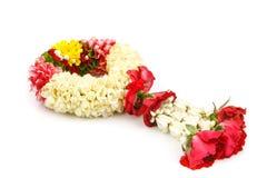 Corona del fiore per la madre su fondo bianco fotografie stock libere da diritti