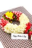 Corona del fiore per la madre sulla festa della Mamma immagini stock libere da diritti