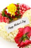Corona del fiore per la madre sulla festa della Mamma fotografia stock libera da diritti