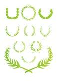 Corona del foglio illustrazione di stock