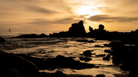 Corona Del Mar Beach Sunset Stock Images