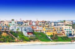 Corona Del Mar California. Beach houses at Corona Del Mar California USA Royalty Free Stock Photography
