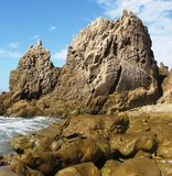 Corona del Mar Geology. Marine geology, Corona Del Mar, Orange County, CA Royalty Free Stock Images