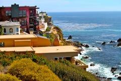 Corona del Mar Homes royalty free stock image
