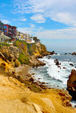 Corona del Mar Homes. Homes in Corona del Mar, California overlooking the ocean royalty free stock images