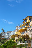 Corona del Mar Homes. Homes in Corona del Mar overlooking the beach stock photography