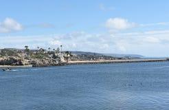 Corona del Mar Homes och fartyg Royaltyfri Bild