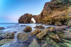 Corona Del Mar Jump Rock, Califórnia Imagens de Stock