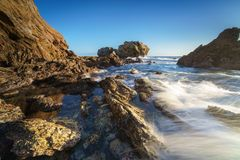 Corona Del Mar Jump Rock, California. Jump rock in corona del mar , orange county CA, USA Royalty Free Stock Image
