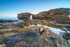 Corona Del Mar Jump Rock Kalifornien Royaltyfria Foton