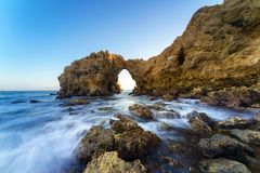 Corona Del Mar Jump Rock, la Californie Image libre de droits