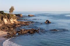 Corona Del Mar strand, Newport strand Kalifornien Fotografering för Bildbyråer