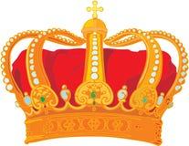 Corona del monarca del vector Foto de archivo
