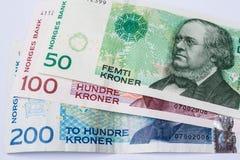 Corona del noruego de los billetes de banco imagen de archivo