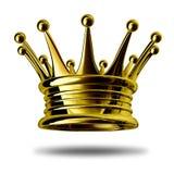 Corona del oro Imagen de archivo libre de regalías