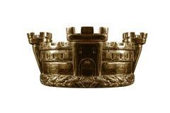 Corona del oro aislada en blanco imagen de archivo