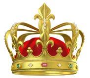 Corona del oro con las joyas ilustración del vector