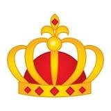 Corona del vector con Diamond Emblems rojo stock de ilustración