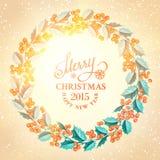 Corona del vischio di Natale Fotografia Stock Libera da Diritti