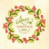 Corona del vischio di Natale Immagini Stock Libere da Diritti