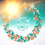 Corona del vischio di Natale Fotografie Stock