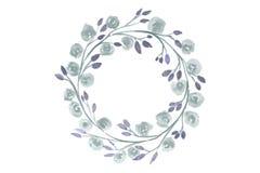 Corona dell'acquerello di Grey Flower per bella progettazione Fotografia Stock