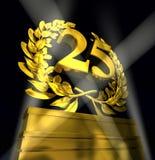 Corona dell'alloro con il numero 25 illustrazione di stock