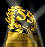 Corona dell'alloro con il numero 55 Fotografie Stock Libere da Diritti