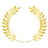 Corona dell'alloro dell'oro Fotografia Stock Libera da Diritti
