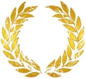 Corona dell'alloro dell'oro Immagine Stock Libera da Diritti