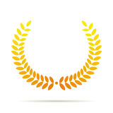 Corona dell'alloro dell'oro di vettore Fotografia Stock Libera da Diritti