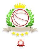 Corona dell'alloro di pallacanestro Immagine Stock