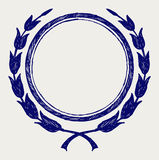 Corona dell'alloro di vettore Fotografia Stock Libera da Diritti