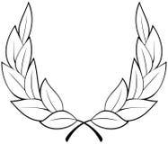 Corona dell'alloro di vettore Immagini Stock Libere da Diritti