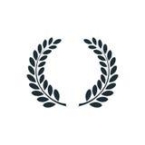 Corona dell'alloro, logo semplice di concetto illustrazione di stock