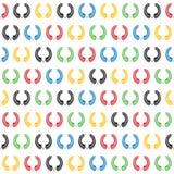Corona dell'alloro nel modello senza cuciture di colore olimpico Immagini Stock Libere da Diritti
