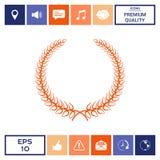 Corona dell'alloro - simbolo elegante per progettazione di yor Fotografie Stock