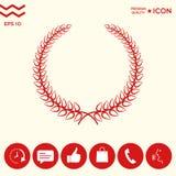 Corona dell'alloro - simbolo elegante per progettazione di yor Immagini Stock Libere da Diritti