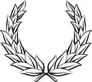 Corona dell'alloro (vettore) Immagine Stock