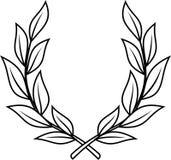 Corona dell'alloro (vettore) Fotografie Stock Libere da Diritti