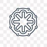 Corona dell'icona di vettore delle spine su fondo trasparente, illustrazione vettoriale