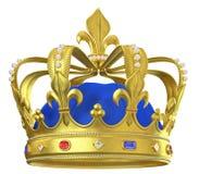 Corona dell'oro con i gioielli Fotografia Stock Libera da Diritti