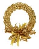 Corona dell'oro di natale Fotografie Stock Libere da Diritti