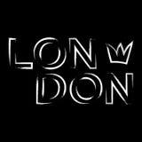 Corona della città di Londra dei grafici di tipografia della maglietta Immagine Stock
