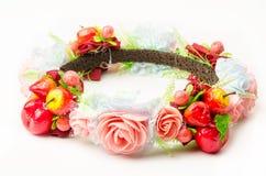 Corona della foresta o corona falsa variopinta del fiore fotografia stock libera da diritti