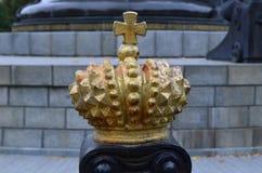 Corona della statua Immagine Stock