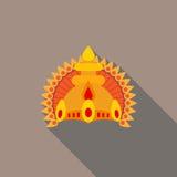 Corona delle divinità indù piana Immagini Stock