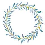 Corona delle olive dell'acquerello illustrazione di stock