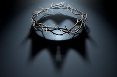 Corona delle spine con ombra reale Fotografia Stock
